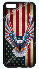 AMERICAN EAGLE FLAG PHONE CASE COVER FOR IPHONE 7 6S 6 PLUS 5 5S 5SE 5