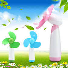Mini Handheld Fan Super Mute Battery Operated Cooling Home Office 3 Colors