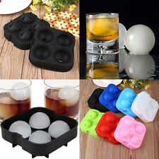 Silicone Ice Ball Cube Maker Tray Sphere Mould Kichen Bar Mold Craft Tool