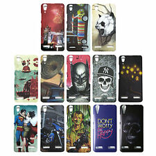 Hard Back Cover For Lenovo A6000 / A6000 Plus Mobiles, Patterns Cover for A6000