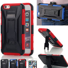 Shockproof Hybrid Stand Belt Clip Holster Case Armor for Apple iPhone