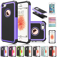 Slim Shockproof Hybrid Rugged Rubber Armor Case Cover for Apple iPhone