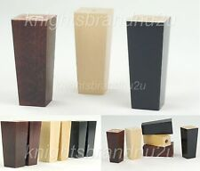 4x WOOD FURNITURE LEGS REPLACEMENT FEET FOR SOFA, CHAIR, SETTEE SELF FIX