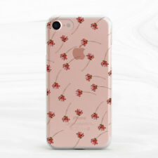 Red Floral Pattern Design Soft Silicone TPU Rubber Case iPhone 5 6 S 7