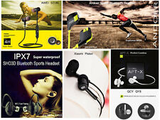 Wired and Wireless Bluetooth Stereo Earphones Extra BASS Headsets with HD Mic