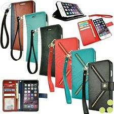 For Apple iPhone 6 / iPhone 6S Plus Leather Flip Cover Card Wallet Cas