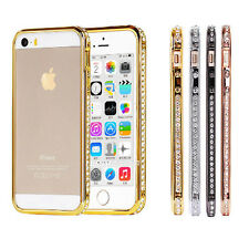 Luxury Diamond Rhinestone Metal Frame Bumper Case Cover for iPhone 5 5