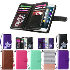 Luxury Magnetic Flip Leather Card Cover Case Wallet For Samsung Galaxy