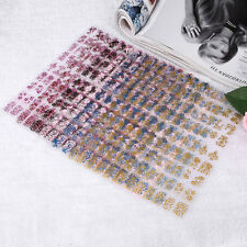 Women Lady 108pcs Floral Flower 3D Nail Art Stickers Stamping Decals DIY