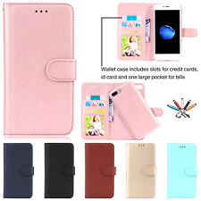 Magnetic Detachable Card Slot Flip Leather Case Stand Cover For iPhone