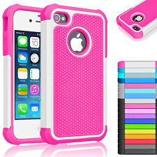 Rugged Hybrid Rubber Hard Shockproof Case Cover Skin for Apple iPhone