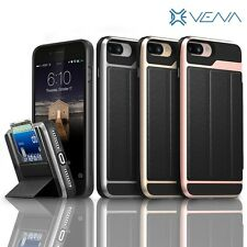 Vena [vCommute] Leather Wallet Card Slot Dual Layer Stand Case for App