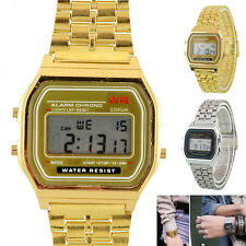 Classic Unisex Women Men Stainless Steel Digital Led Display Wrist Watch
