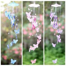 Crystal Butterfly Wind Chime Bell Garden Ornament Gift Garden Hanging Decor