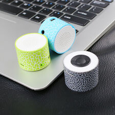 Wireless Mini Rechargeable Speaker Crack Pattern Support TF Card MP3 Player Gift