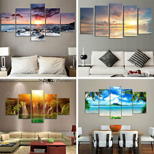 5Pcs/lot Modern Landscape Canvas Wall Print Oil Painting For Home Decor