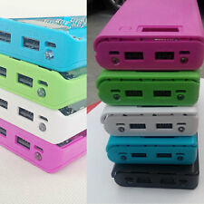 Dual USB Backup Power Bank Charger Box DIY 8-Slot 18650 Battery Case For Phone