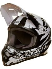 Casco MX ONeal 2018 3Series Shocker Negro-blanco