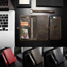Detachable Magnetic Leather Wallet Card Stand Case Cover For iPhone 6s