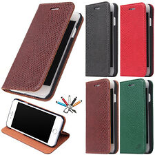 Luxury Leather Card Wallet Case Stand Flip Shockproof Cover For iPhone