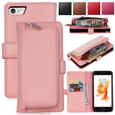 New Magnetic Removable Wallet Flip Card Leather Case Cover For iPhone