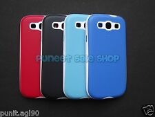 Hybrid Dual Tone Platina Soft Back Cover Case For Samsung Galaxy S3 SIII i9300