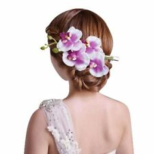 Lovely Orchid Flowers Hair Clip Barrette Hairpin Bridal Party Wedding Prom Women