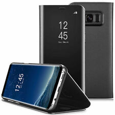 For Samsung Galaxy S8 & S8 Plus - CLEAR VIEW FLIP CASE smart phone cover