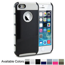 Hybrid Protective Rugged Rubber Hard Matte Case Cover For iPhone 5 5S