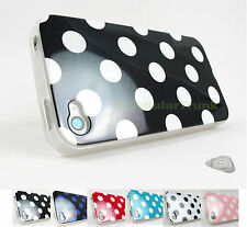 for Apple iPhone 4 4S Polka Dots TPU Skin Case Cover Accessory +PryToo