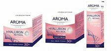 Aroma Face Anti-Age Night-Day & Eye Creams With Hyaluron 30+ All Skin Types 50ml