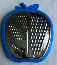 New Apple Shaped Bright Colour Multi Cut Grater With Matching Shaped Bowl