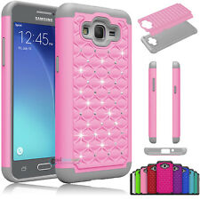 Hybrid Luxury Crystal Bling Matte Case Cover For Samsung Galaxy Grand