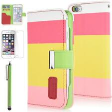 Wallet Flip Stand PU Leather Magnetic Card Slot Case Cover for Apple i