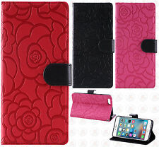 For Apple iPhone 6 Plus 5.5 ROSE Leather Wallet Case Pouch Flip Phone