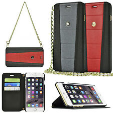 Magnetic Leather Chain Strap Wallet Flip Case Cover for Apple iPhone 6