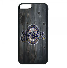 Milwaukee Brewers Phone Case For iPhone 7 6S 6 PLUS 5 5S 4 4S Black TP