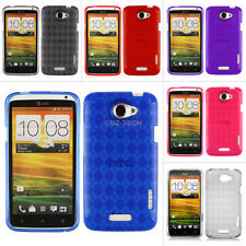 For HTC One X S720e X+ AT&T Colorful Argyle Transparent Gel TPU Case C