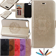 Luxury Patterned Flip Leather Card Wallet Stand Case Cover For iPhone