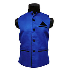 Nehru Jacket For Party Wear, Sleeveless Jacket (Size-M-chest-38) ( SKU-JN91498 )