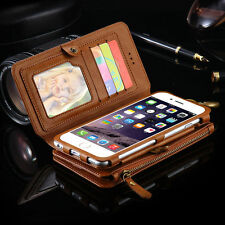 Luxury Genuine Leather Flip Wallet Phone Case Cover for iPhone 7 7 Plu