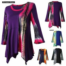 Maglia Autunno Manica Lunga Etnica Donna Woman Long Sleeve T-Shirt Top 330028