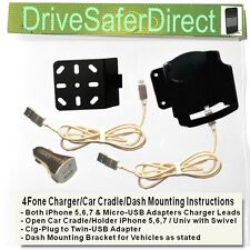4Fone USB Charger for iPhone 5,6,7 with Car Cradle options for BMW