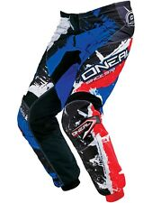 Pantalones MX niño ONeal 2017 Element Shocker Negro-azul-rojo