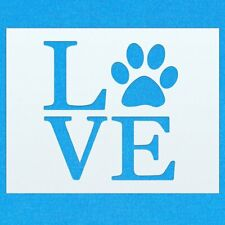 Dog Cat Animal Pet Love Paw Mylar Airbrush Painting Wall Art Crafts Stencil two