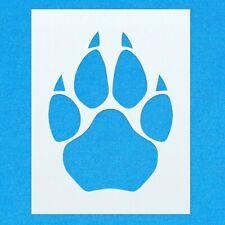 Dog Cat Animal Pet Paw Print Mylar Airbrush Painting Wall Crafts Stencil one