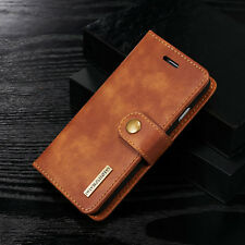Magnetic Removable Leather Card Slot Wallet Case Flip Cover For iPhone