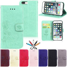 Flower Pattern Magnet Leather Wallet Card Case Stand Cover For iPhone