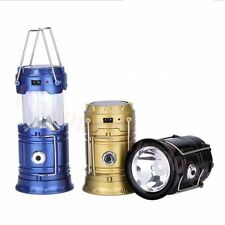 Solar Lantern Rechargeable 6 + 1 LED With Flashlight Inbuilt USB Mobile Charger