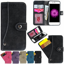 Leather Wallet Case PU Cover Flip Stand Credit Card Holder For iPhone